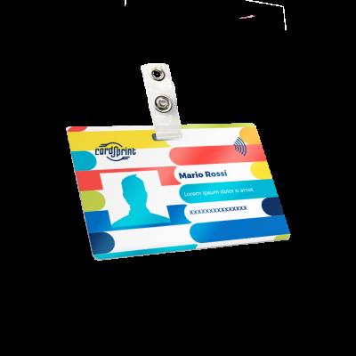 stampa badge personalizzati