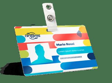 stampa badge